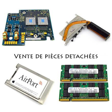 Carte processeur, radiateur, carte WiFi, Ram