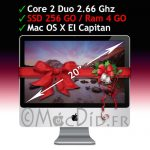 "Apple iMac 20"" 4GO Ram 256 GO SSD C2D 2.66 Ghz A1224 Early 2008 OS X El Capitan"