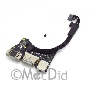 """Carte connecteur courant MagSafe DC-IN MacBook Air 11"""" Mid 2012 923-0118 820-3213-A"""