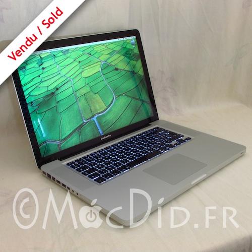 MacBook Pro 15″ Late 2008 C2D 2.53Ghz 4 GO de Ram et 256 GO SSD