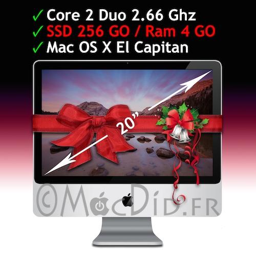iMac Intel 20 Core 2 Duo 2.66 Ghz 4GO Ram 256 GO SSD A1224 Early 2008 OS X El Capitan